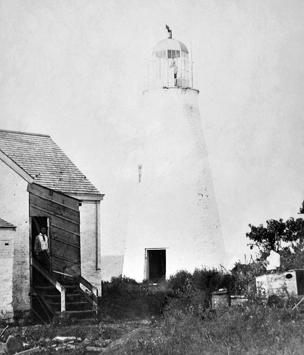 The West Sister Island Lighthouse in 1885.