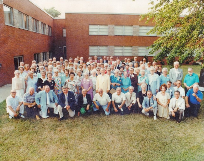 A reunion of Armor Park residents in South Charleston on July 15-16, 1988. Courtesy of South Charleston Interpretive Center.