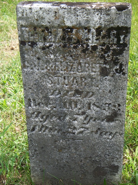 Headstone at Blockhouse Cemetery belonging to Chapman J. Stuart, a former lieutenant in the Civil War as well as the man who gave West Virginia its name