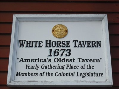 White Horse Tavern plaque