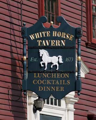 White Horse Tavern store sign