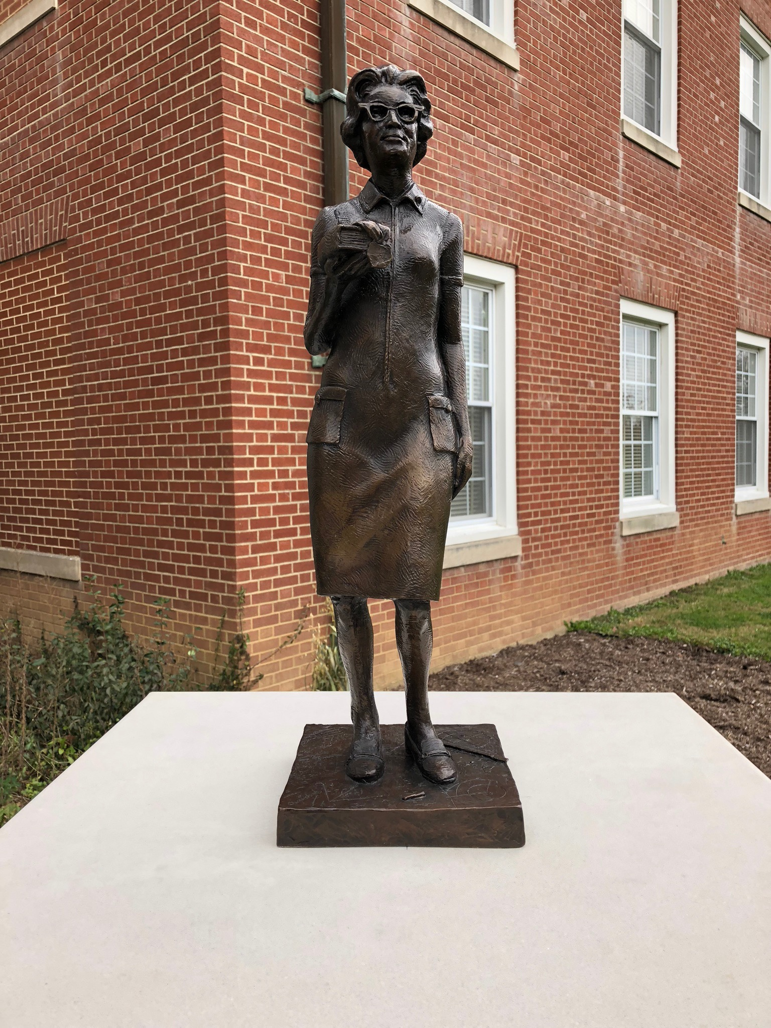 Katherine G. Johnson was the recipient of the Presidential Medal of Freedom and a statue of her will be dedicated on the campus thanks to the support of donors.