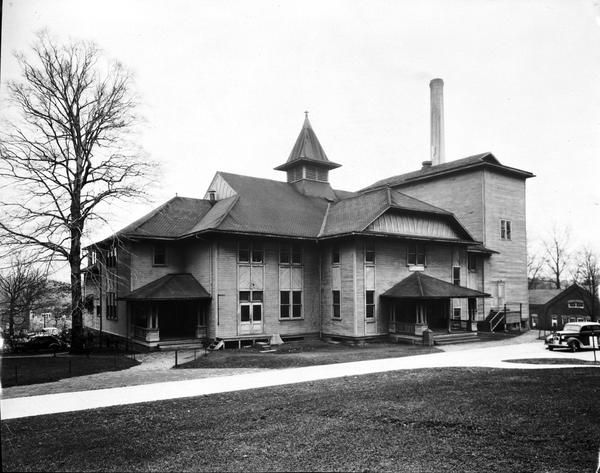 The original Assembly Hall, with Owen Hall visible in the background.