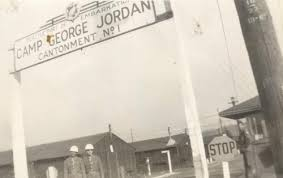 The entrance to Camp Jordan, a segregated army training facility in Seattle during World War II.
