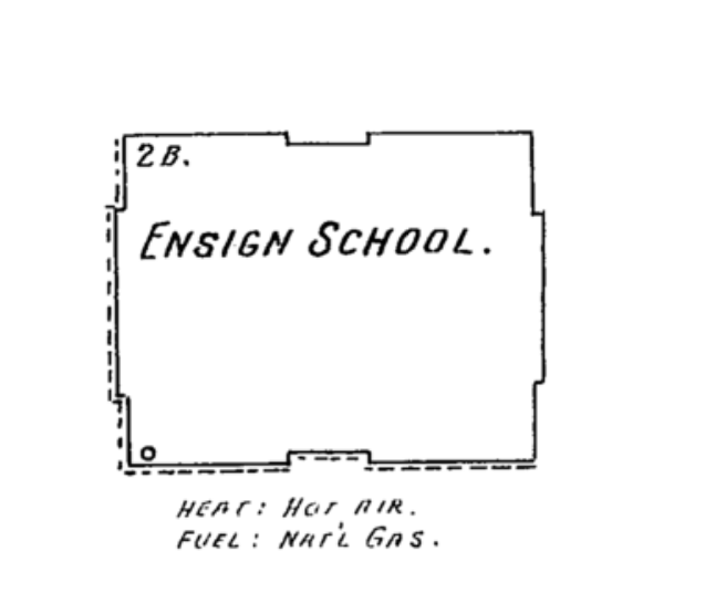 The Ensign School, from the 1904 Sanborn map