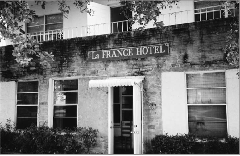 An original image of The LaFrance Hotel after its construction in 1949.