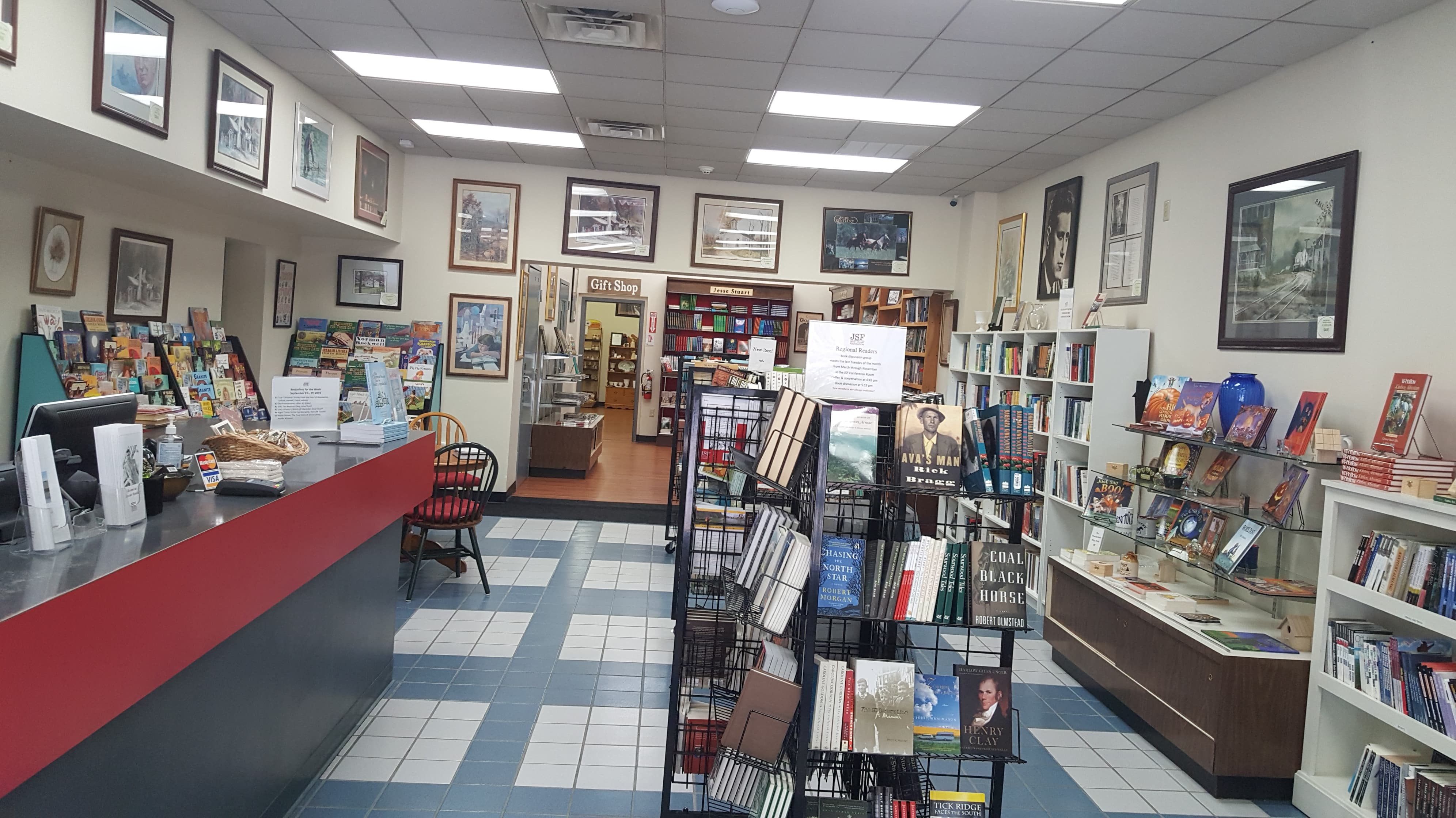 Inside of the JSF Bookstore and Gift Shop and Some of Stuart's Books