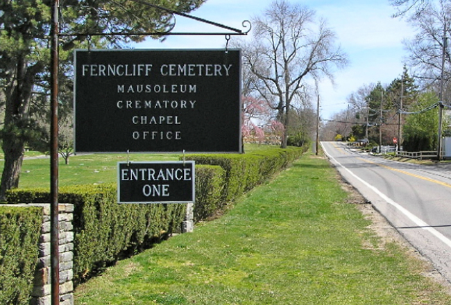 Entrance to Ferncliff Cemetery