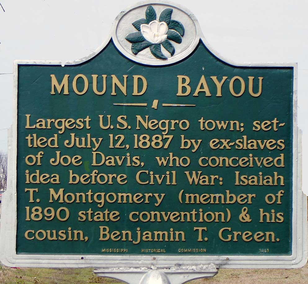 Historical Marker for the City of Mound Bayou