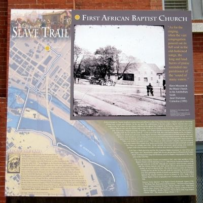 A Second Marker about the Richmond Slave Trail that includes the church. The Church was a pillar of the community.