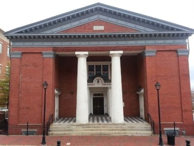 The rebuilt First Baptist Church which is now Randolph Minor Hall at Virginia Commonwealth University