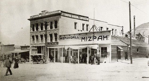 The Mizpah Saloon and Grill which was replaced by The Mizpah Hotel.