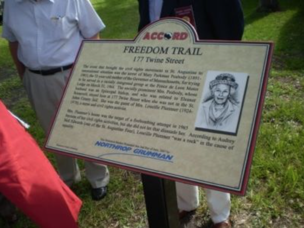 An image of the marker present at 177 Twine Street with a description of the location and the importance of the site.