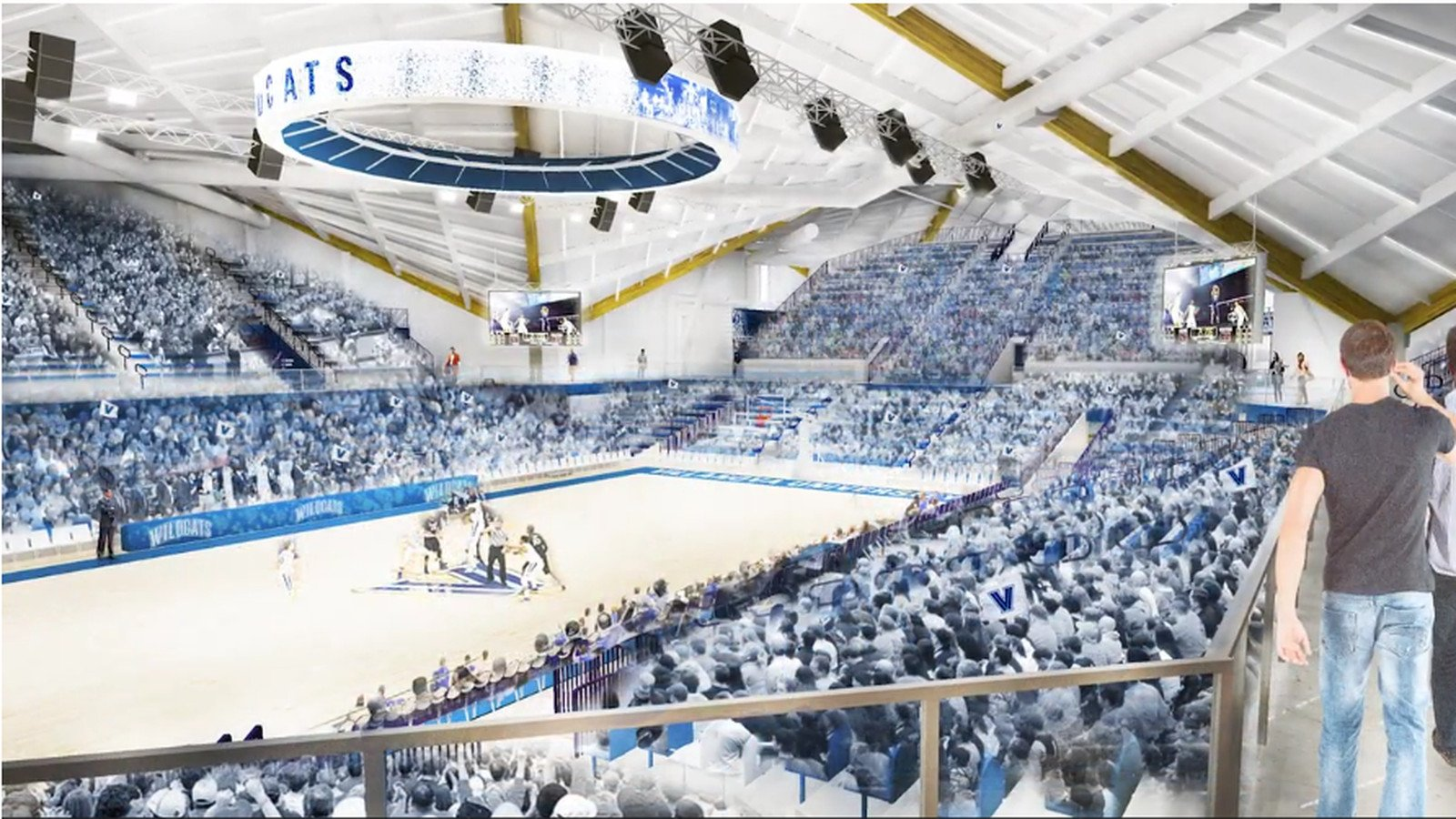 This image presents a graphical design of what the new Finneran Pavilion will look like when the project is finished (Lane, 2017)