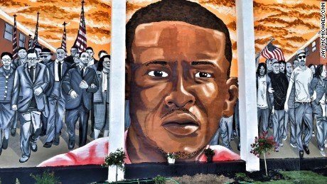 A mural in Baltimore memorializes Freddie Gray