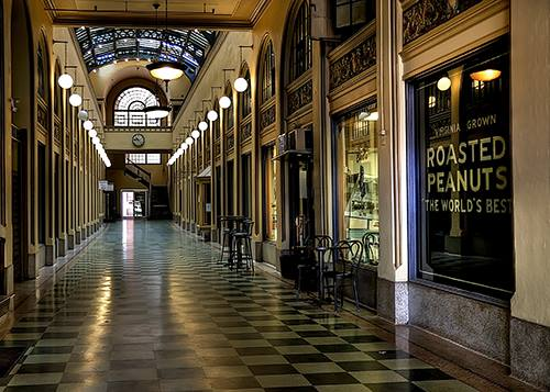 The Peanut Shoppe from inside the Huntington Arcade