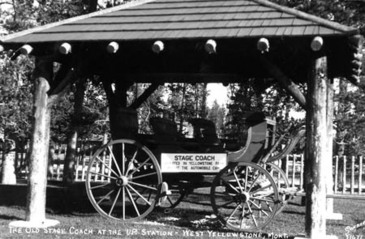 This picture shows the stagecoach shelter when it was still serving its intended use.