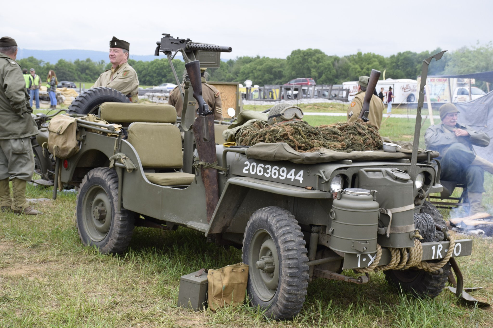 A world War II jeep on display during USAHEC's annual Military Heritage Days.