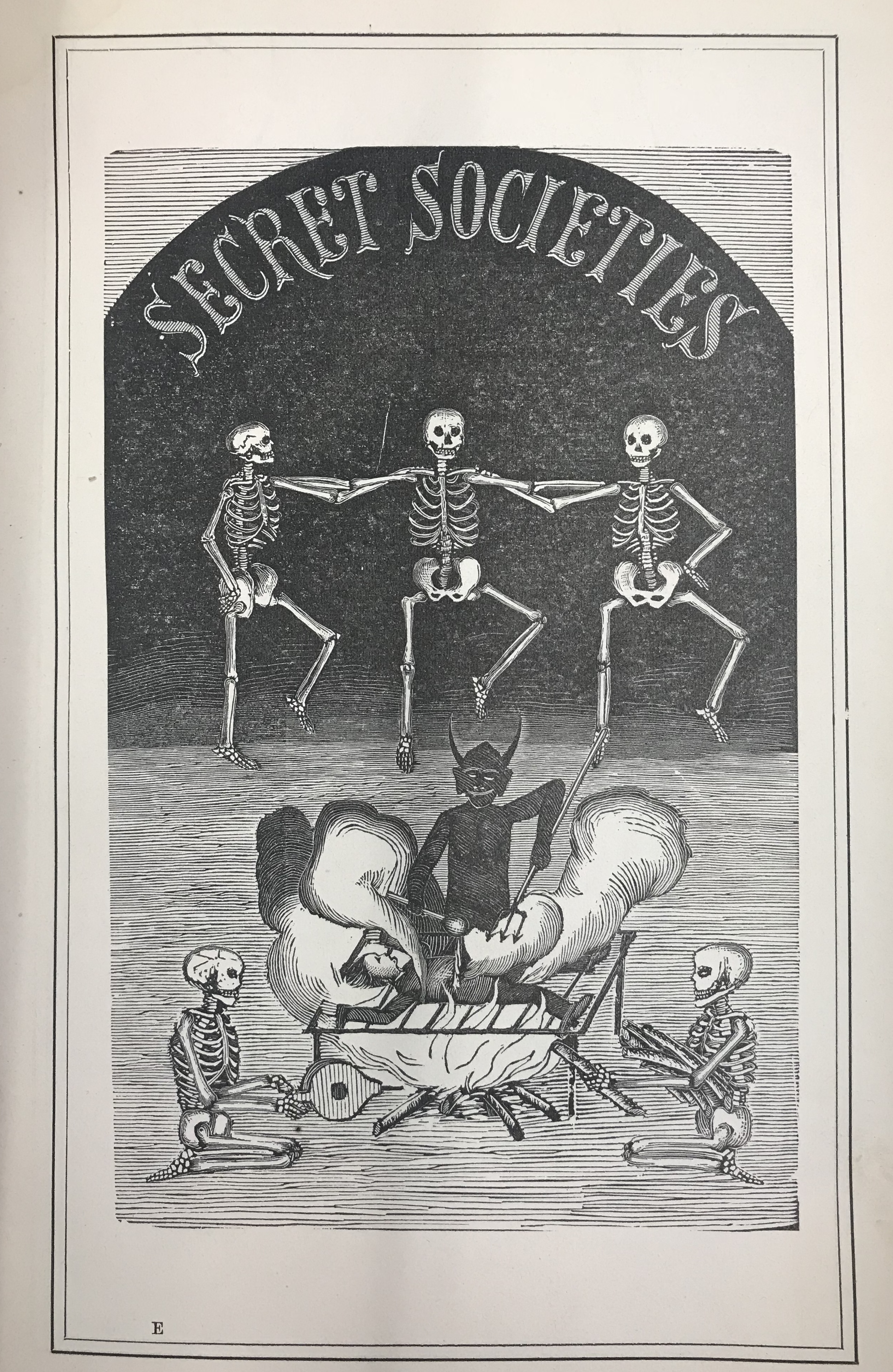 """Secret Societies"" image, from the Massachusetts Agriculture College ""Index"""