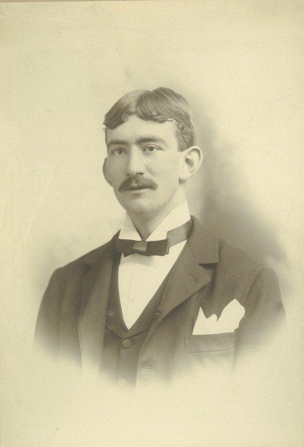 "Portrait of L. Bert Cheney, class of 1897. ""Southbridge, Mass"" and ""Q.T.V."" written on back. Lovell, J. L. (John Lyman), 1825-1903 (photographer)"
