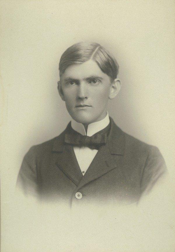 """James L. Bartlett, class of 1897. """"Salisbury, Mass"""" and """"Q.T.V."""" written on back. Lovell, J. L. (John Lyman), 1825-1903 (photographer)"""