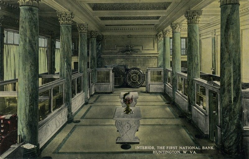 Interior of the First National Bank