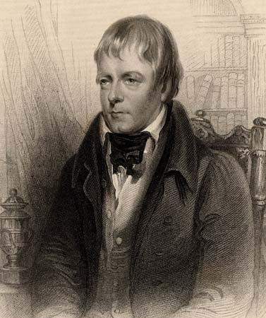 A portrait of Sir Walter Scott.