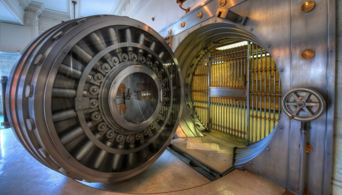 Vault for the gold depository at Fort Knox