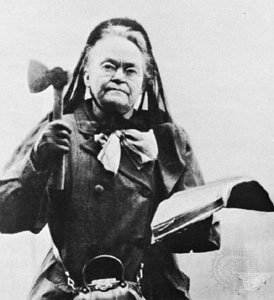 Carrie Nation carefully cultivated an image as a radical who physically smashed saloons in order to promote her lectures and other work.