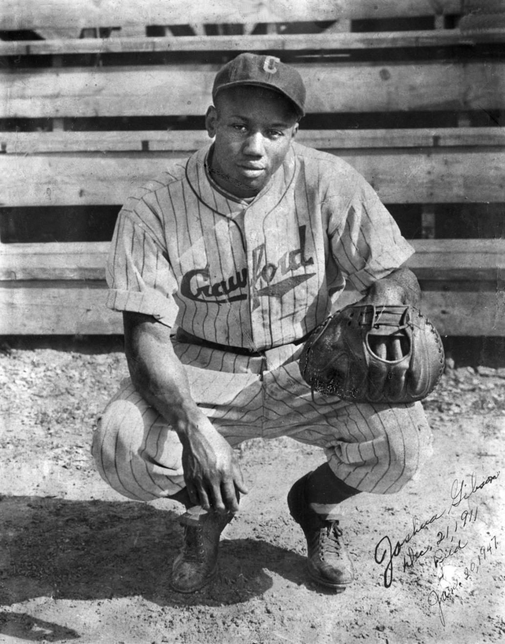 Josh Gibson During his youth, playing for the Pittsburgh Crawfords.