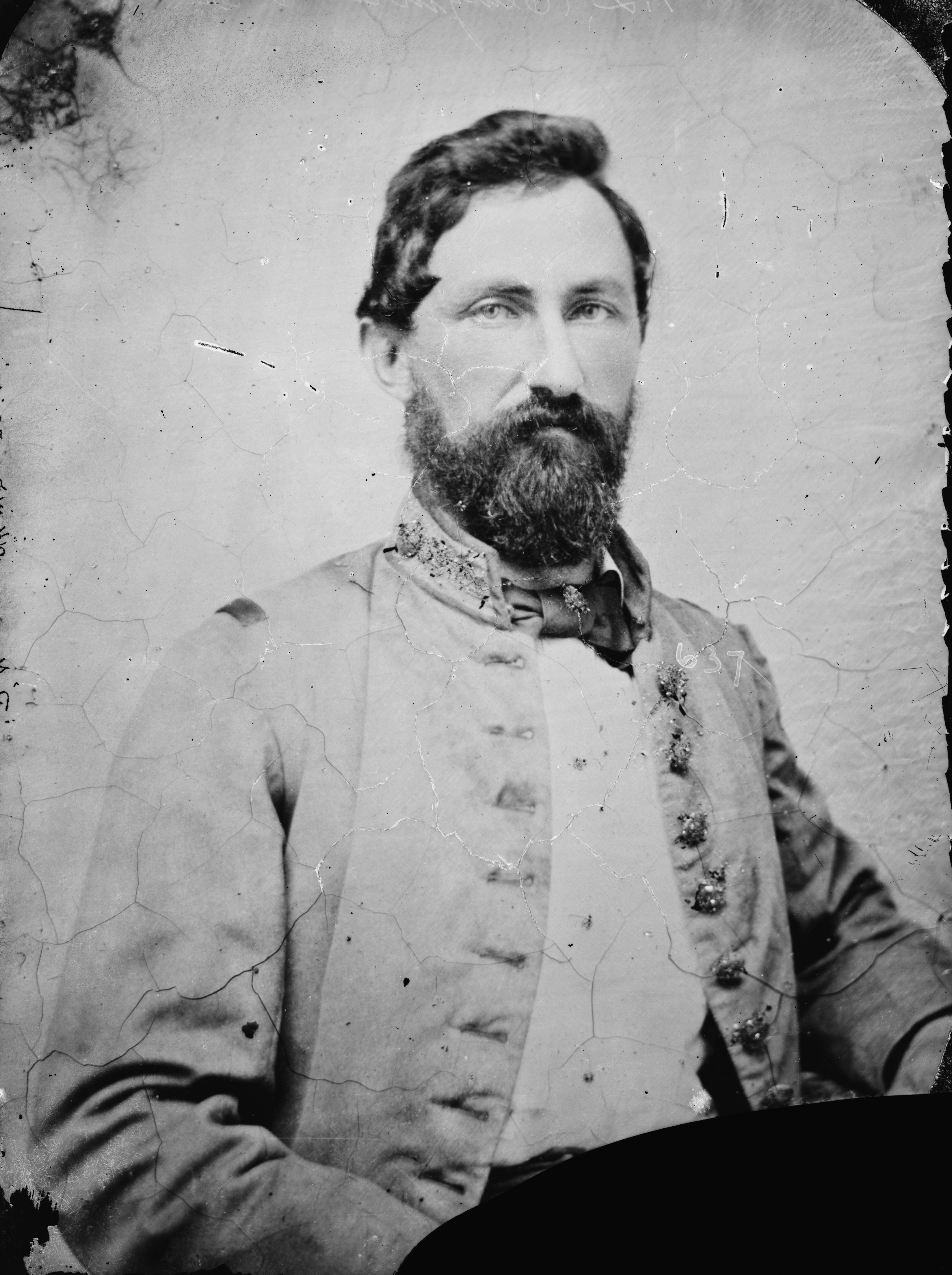 "Confederate General William Cabell, who commanded Price's rearguard as it was pushed back from Independence to Rock Creek. Known as ""Old Tige,"" he was captured a few days after Westport and spent the rest of the war a prisoner."