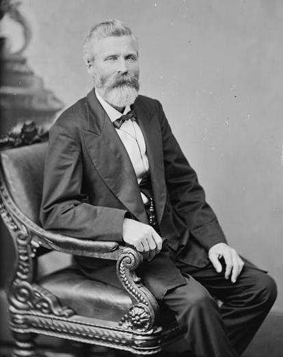 Confederate General William Slemons, whose brigade defended against Pleasanton's Union cavalry at the Little Blue River. They fought along the entire seven-mile stretch between the river and Independence.