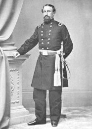 "Union General John Mcneil, whose brigade bore the brunt of the fighting on Oct. 22. He'd gained notoriety for executing 10 Rebel prisoners in 1862, an event labeled the ""Palmyra Massacre."""
