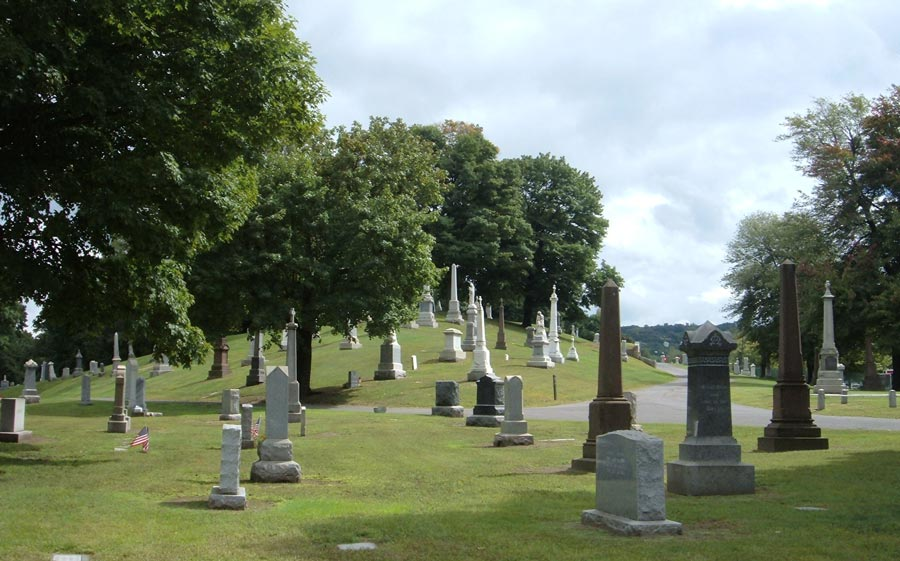 Cemetery, Tree, Grave, Headstone