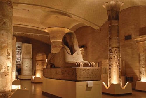 Visitors to the Lower Egyptian gallery can view the Sphinx Gallery