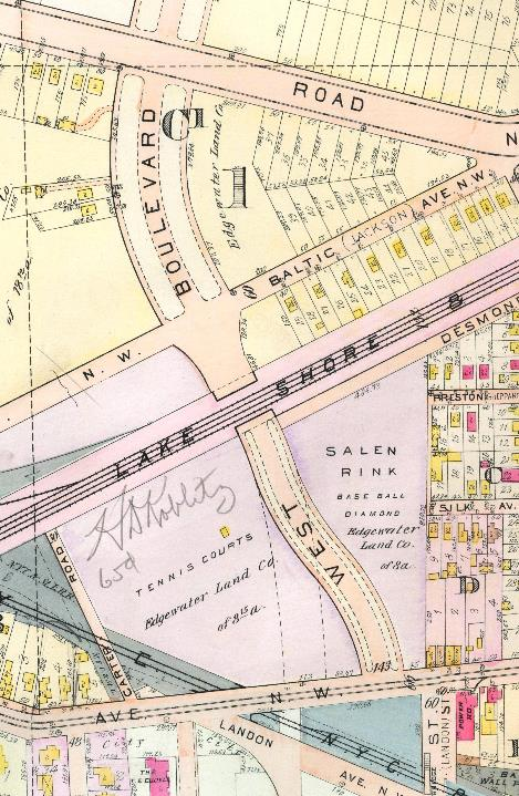 Location of Bridge 54 in 1912.