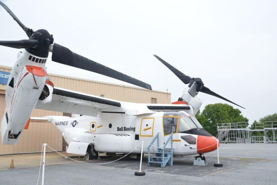 This Bell Boeing V-22 Tilt Rotor Osprey is the only one on public display.