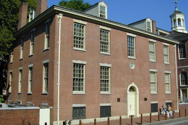 The APS Museum in Philosophical Hall is located around the corner from Independence Hall in Philadelphia's historic district at 104 South Fifth Street.