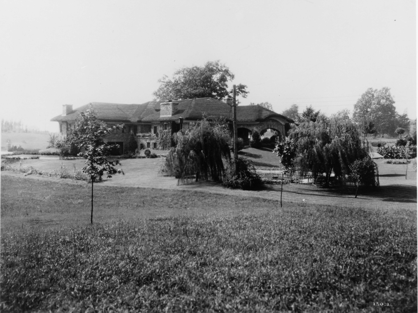 Northwest view of the house in 1925