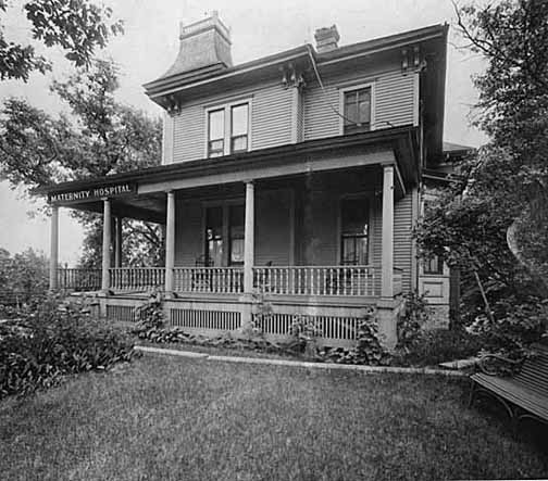 The Ankeny Family Home, which served as the hospital's main building from 1896-1916