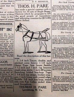 Thos. H. Pare advertisement, 1908.