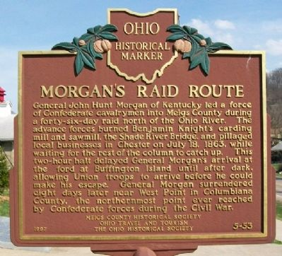 Morgan's Raid Route Historical Marker