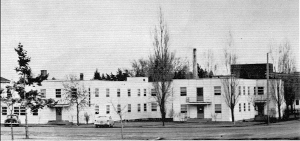 Garry Hall was the eastern wing (left side) of Hudson Hall