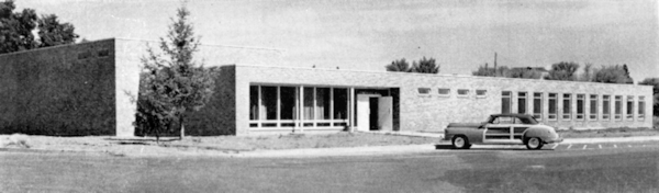 1951 view of the music building entrance