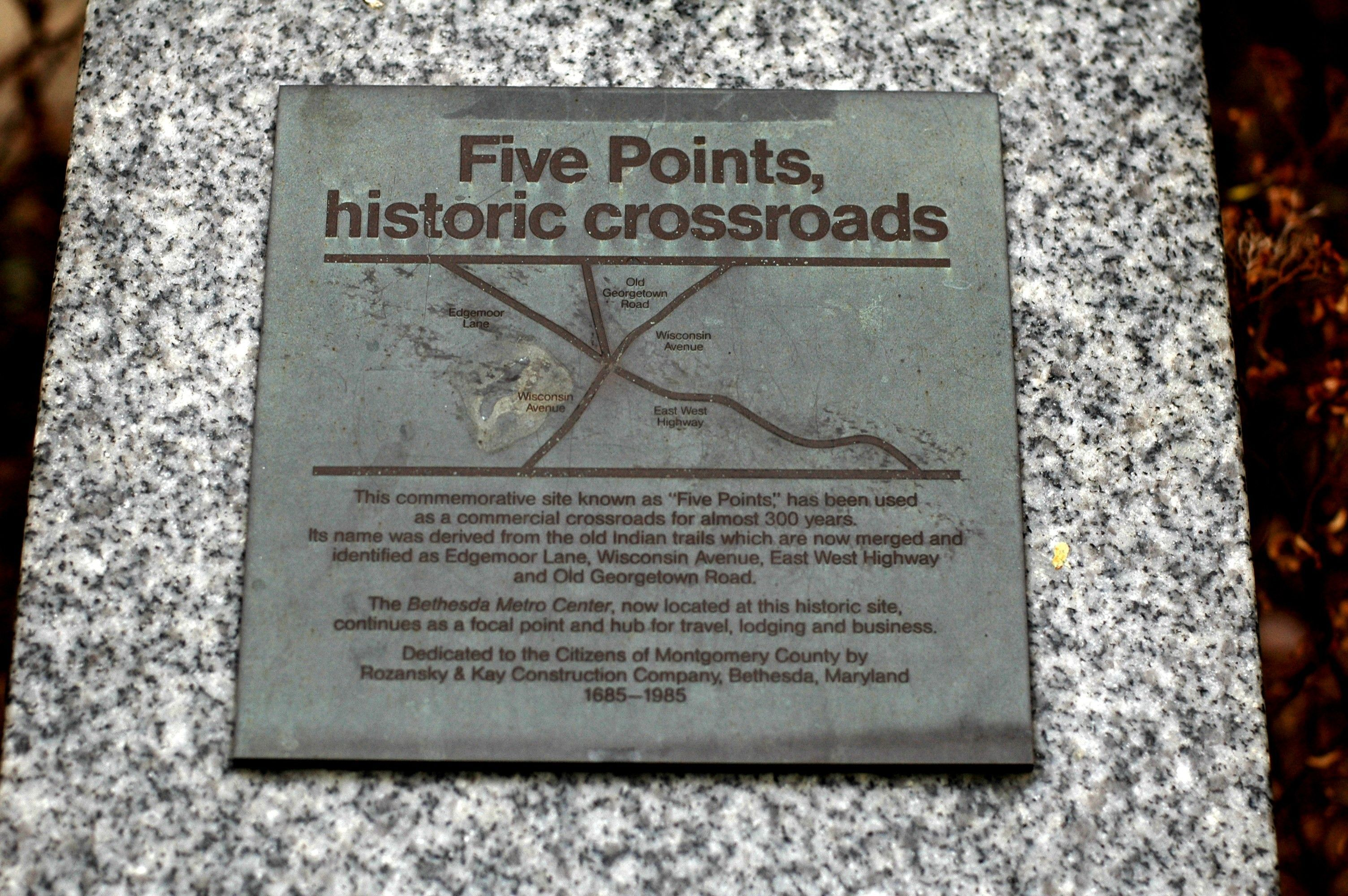 Five Points Historical Marker by Tom Fuchs on HMDB.org (reproduced under Fair Use)