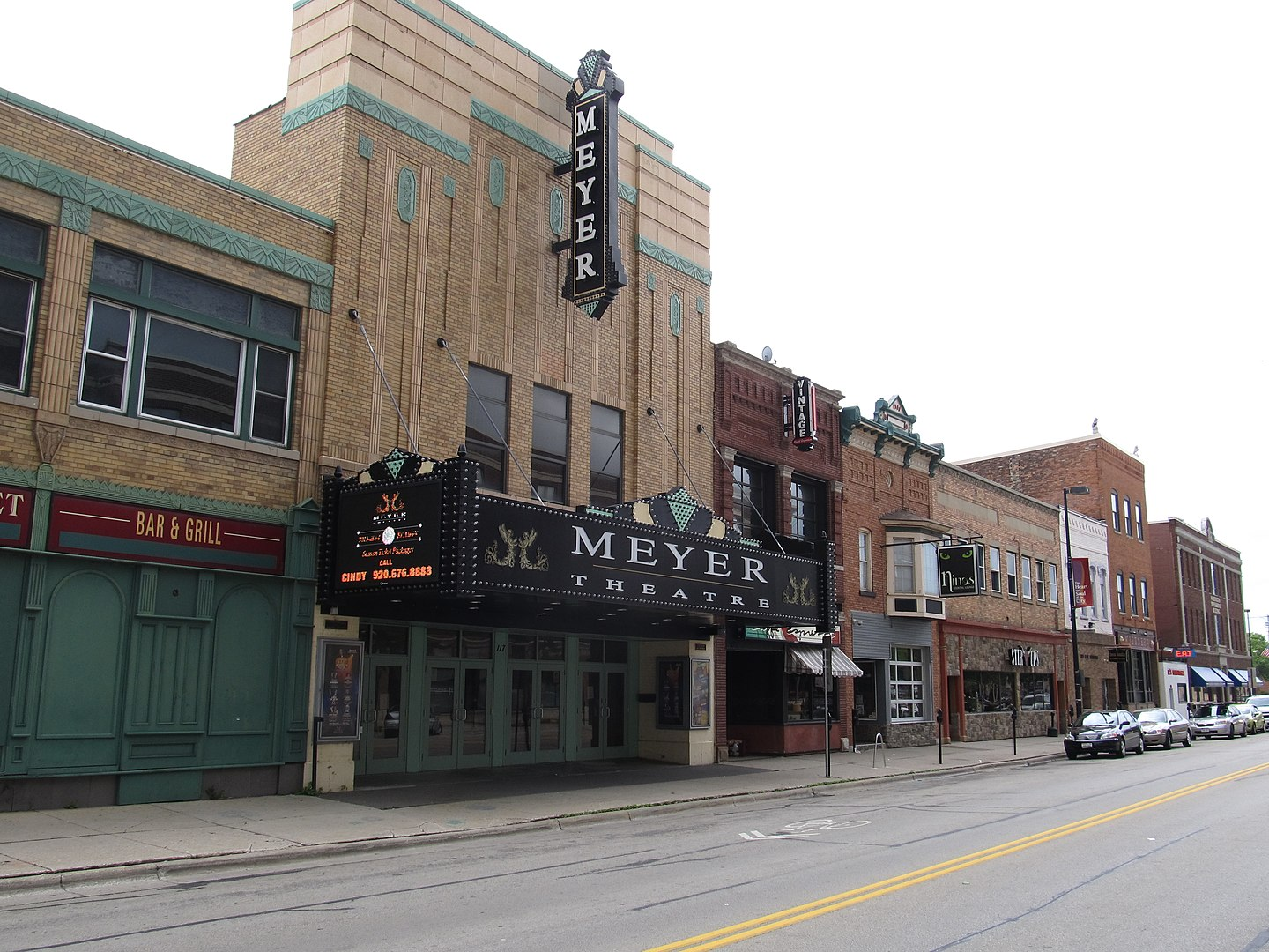 2013 Photo of the Meyer Theatre, formerly known as the Bay Theatre and, historically, the Fox Theatre