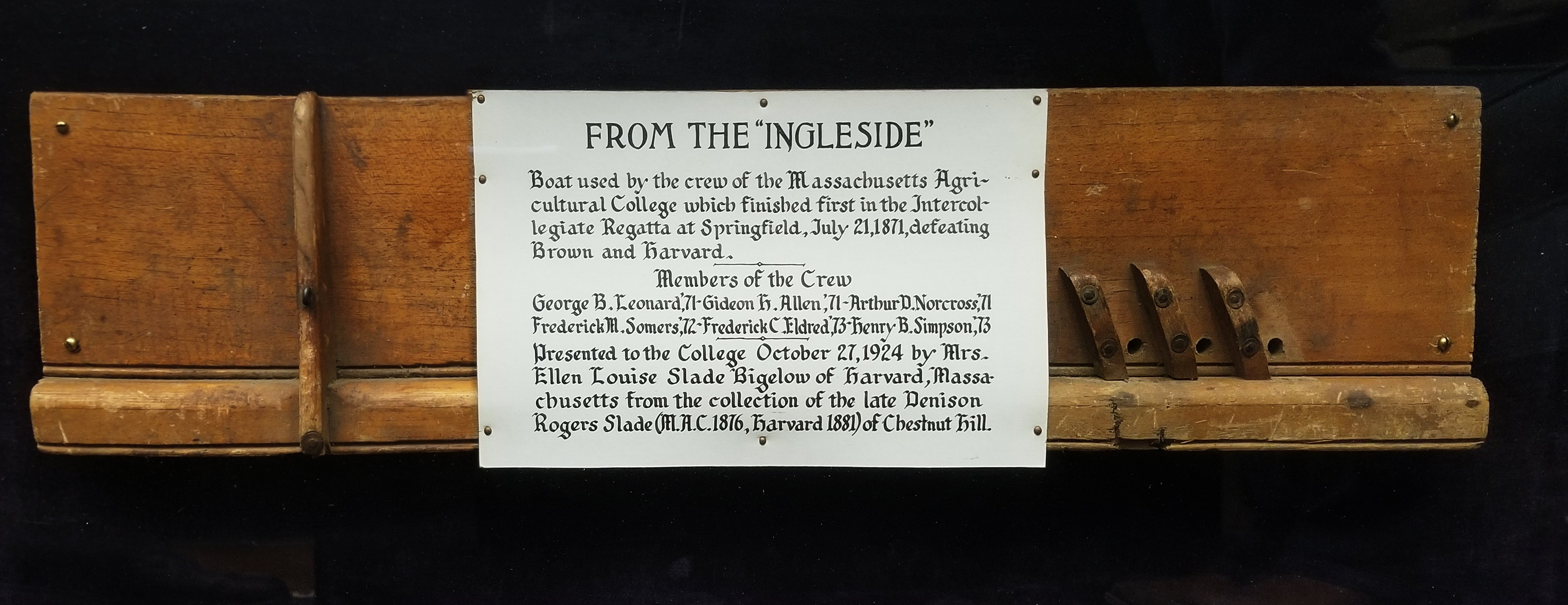 """From the Ingleside"" relic of the winning shell, circa 1907"
