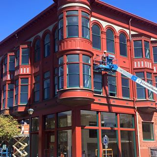 Carson Block Building during restoration