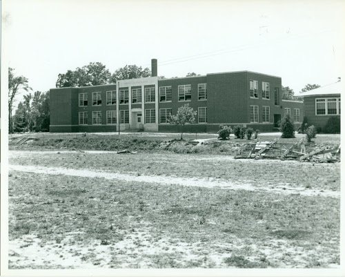 A 1953 shot of the 1941 Kempsville High Shool Building.  (Sargeant Memorial Collection, Norfolk Public Library.)