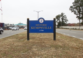 A historical marker of the Kempsville District.